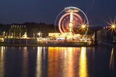 De mening van de Funfairnacht Royalty-vrije Stock Foto's