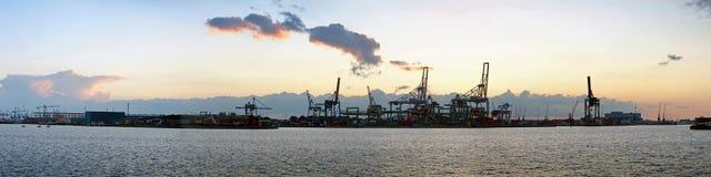 De mening van de haven royalty-vrije stock foto