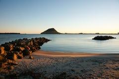 De mening van de haven om Maunganui op te zetten. Stock Fotografie
