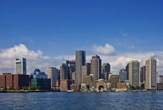 De Mening van de haven van Boston Van de binnenstad Royalty-vrije Stock Afbeeldingen