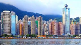 De Mening van de Haven van Hongkong Stock Fotografie