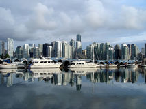 De Mening van de haven in Vancouver Stock Foto