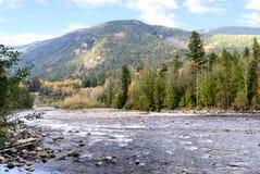 De Mening van de Herfst van de Rivier van Chilliwack Stock Afbeeldingen