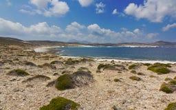 De mening van de het noordenkust van Milos Royalty-vrije Stock Foto