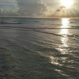 De mening van de het zuidwestenzonsondergang van Florida, stranden stock foto's