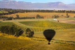 De mening van de hete luchtballon stock afbeeldingen