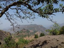 De mening van de heuveltop Stock Foto