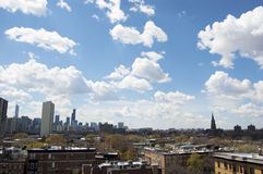 De Mening van de Horizon van Chicago tijdens de Dag Stock Fotografie