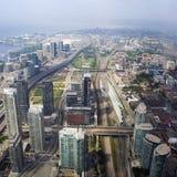 De mening van de horizon van Toronto, Ontario, Canada Stock Fotografie