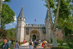 De mening van de Istambulstraat Royalty-vrije Stock Afbeeldingen