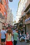 De mening van de Istambulstraat Stock Afbeeldingen