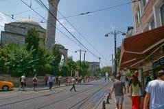 De mening van de Istambulstraat royalty-vrije stock foto