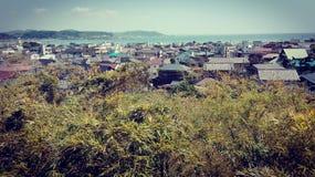 De mening van de Kamakurakust Stock Afbeeldingen