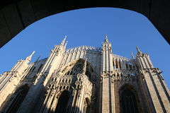 De Mening van de Koepel van Milaan Stock Afbeelding