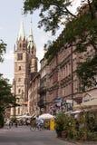 De mening van de Konigstrassestraat Stock Afbeelding