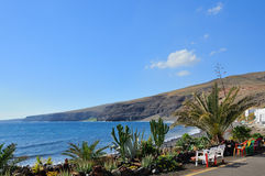 De mening van de kust Zonnige dag op het Eiland Patmos royalty-vrije stock afbeelding