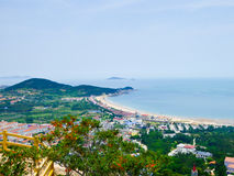 De mening van de Laoshanberg in Qingdao Royalty-vrije Stock Foto