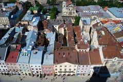 De mening van de Lvovstad Royalty-vrije Stock Afbeelding