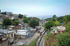 De mening van de Maksudakrottenwijk, Varna Bulgarije Stock Afbeelding
