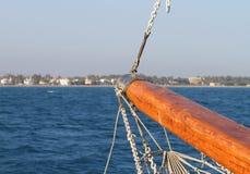 De Mening van de Middellandse Zee van Boeg van het Jacht Stock Foto's