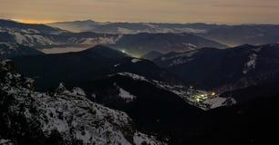 De mening van de nacht van berg Stock Afbeelding