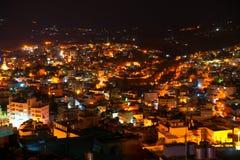 De mening van de nacht van Bethlehem, Palestina, Israël Royalty-vrije Stock Fotografie