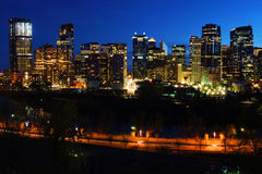 De Mening van de nacht van Calgary royalty-vrije stock afbeeldingen