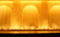 De mening van de nacht van de fontein in Monjuic Stock Afbeelding