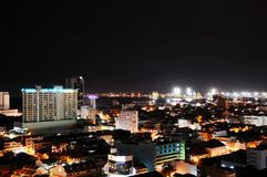 De Mening van de Nacht van de stad Royalty-vrije Stock Foto's
