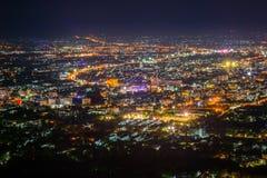 De Mening van de Nacht van de stad Stock Foto's