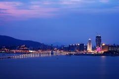 De mening van de nacht van de stad van Macao Royalty-vrije Stock Fotografie