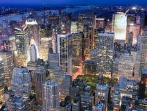 De Mening van de nacht van de Stad van New York Royalty-vrije Stock Afbeelding