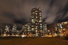 De Mening van de nacht van Flats Stock Fotografie