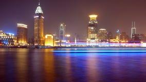De mening van de nacht van rivier Huangpu Royalty-vrije Stock Afbeelding