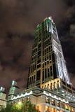 De mening van de nacht van Shanghai royalty-vrije stock afbeelding