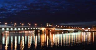 De mening van de nacht van St. Petersburg royalty-vrije stock afbeeldingen
