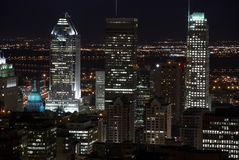 De mening van de nacht van Stad Royalty-vrije Stock Afbeeldingen