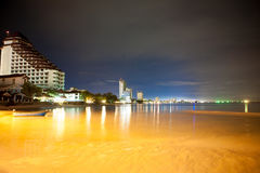 De mening van de nacht van strand Royalty-vrije Stock Afbeeldingen