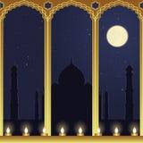 De Mening van de nacht van Taj Mahal Royalty-vrije Stock Afbeeldingen