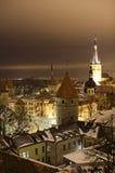 De mening van de nacht van Tallinn royalty-vrije stock foto