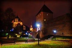 De mening van de nacht van Tallinn, Estland royalty-vrije stock foto