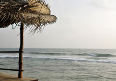 De mening van de oceaan van een koffie in Sri Lanka Stock Foto