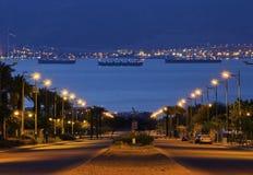 De mening van de ochtend over de golf van Aqaba Royalty-vrije Stock Fotografie