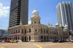 De mening van de ochtendstad van Kuala Lumpur op nationale dag Royalty-vrije Stock Foto
