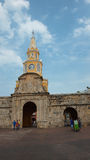 De mening van de Openbare Klokketoren is het representatieve symbool van Cartagena DE Indias Royalty-vrije Stock Foto's