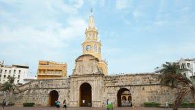 De mening van de Openbare Klokketoren is het representatieve symbool van Cartagena DE Indias Royalty-vrije Stock Afbeelding