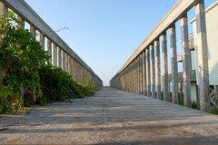 De Mening van de promenade Royalty-vrije Stock Fotografie