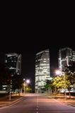 De mening van de Putrajayastraat bij Nacht Royalty-vrije Stock Foto