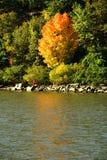 De mening van de Rivier van Hudson in Hudson Vallei, NY Royalty-vrije Stock Foto