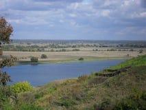 De mening van de rivieroever Stock Fotografie